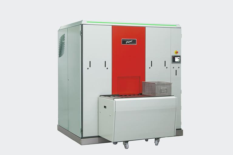 Die komapkte PERO Anlage S1 bietet den idealen Einstieg in die Reinigung mit Lösemitteln im geschlossenen System.